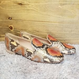 NWOT Stuart Weitzman Coral Python Pipearky